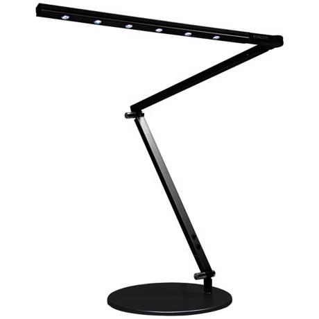Gen 2 Z-Bar Metallic Black Warm Light LED Desk Lamp