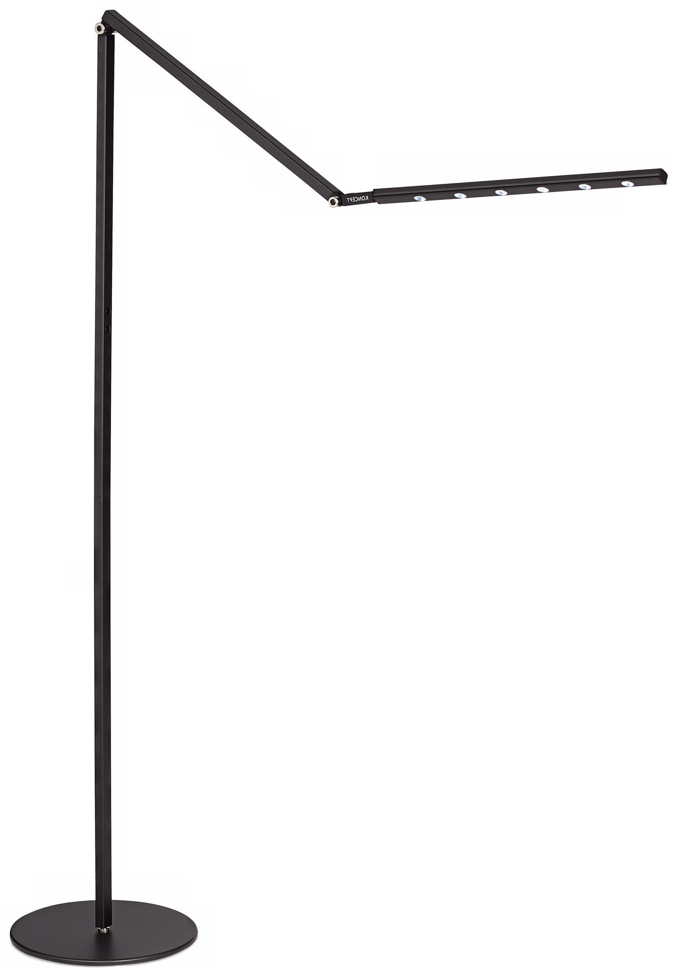i-Tower Black Finish Daylight LED Floor Lamp (K9444)