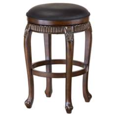 "Hillsdale Fleur-de-Lis Cherry 24"" High Counter Stool"