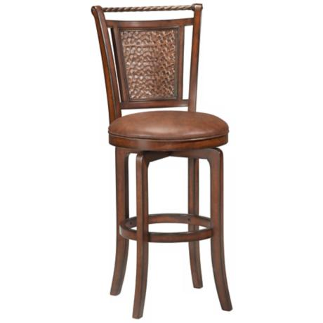 "Hillsdale Norwood Brown Swivel 30 1/2"" High Bar Stool"