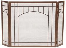 Roman Bronze Mission Style Folding Fireplace Screen at LAMPS PLUS