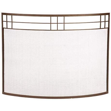 Bungalow Roman Bronze Curved Fireplace Screen