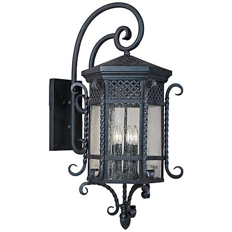 "Maxim Scottsdale 34"" High Country Forge Outdoor Wall Light"