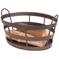 Rustic Fireplace Log Basket