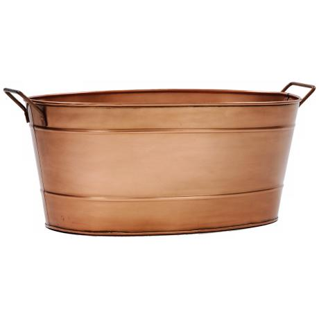 Copper Plated Oval Tub