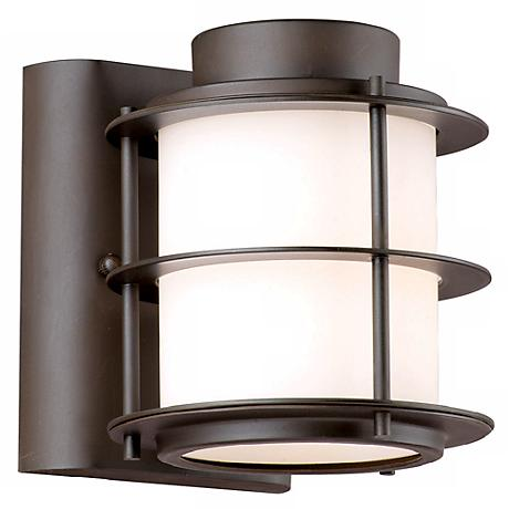 "Hollywood Hills Deep Bronze 6"" High Outdoor Wall Light"