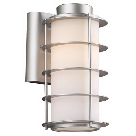 "Hollywood Hills Vista Silver 10 1/4"" High Outdoor Wall Light"