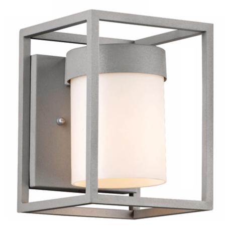 "Cube Collection Graphite 8"" High Outdoor Wall Light"