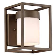 "Cube Collection Bronze 8"" High Outdoor Wall Light"