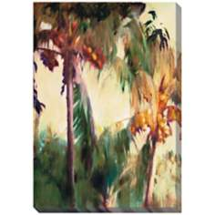 "Morning Palms Limited Edition Giclee 48"" High Wall Art"