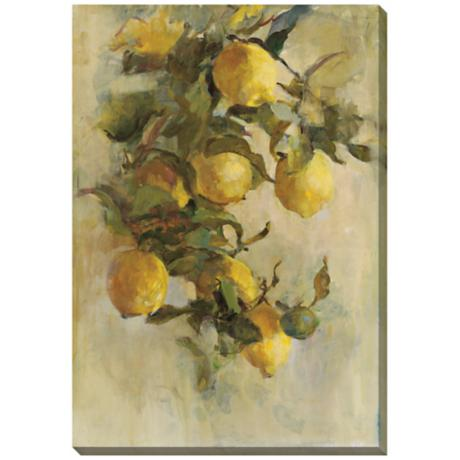 "Lemon Branch Limited Edition Giclee 33"" Wide Wall Art"