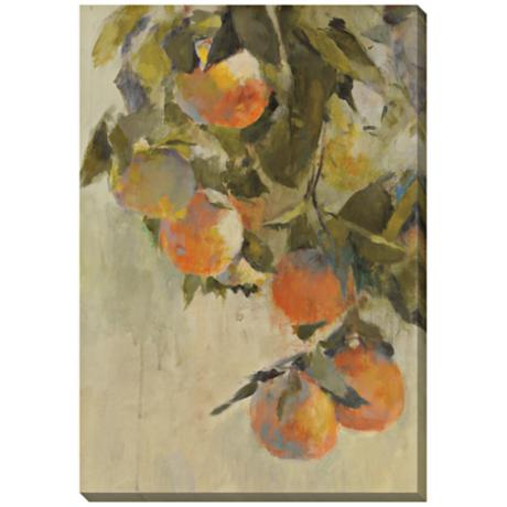 "Tangerines Limited Edition Giclee 48"" High Wall Art"