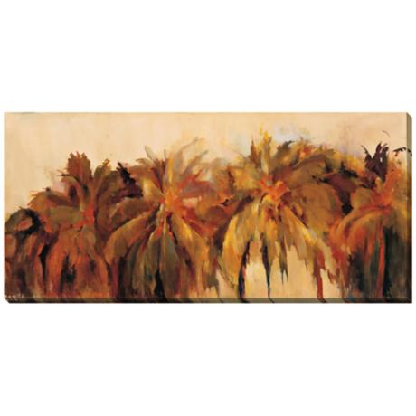"Palm Avenue Limited Edition Giclee 48"" Wide Wall Art"