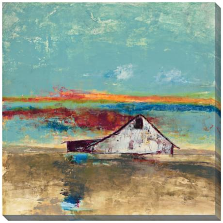 "Sunset Landscape II Indoor/Outdoor 40"" Square Wall Art"