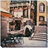 "Trattoria al Ponte Giclee Indoor/Outdoor 40"" Square Wall Art"