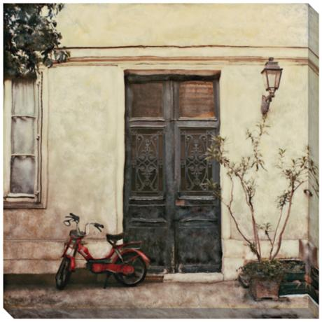 "Le Visite Limited Edition Giclee 40"" Square Wall Art"