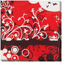 "Silhouette in Red Limited Edition Giclee 40"" Square Wall Art"