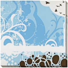 "Silhouette in Blue Limited Edition Giclee 40"" Wide Wall Art"