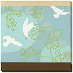 "Hummingbird in Green Limited Edition 40"" Square Wall Art"
