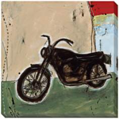 "Motorcycle I Limited Edition Giclee 40"" Square Wall Art"