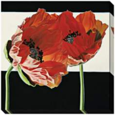 Poppies with Black and White Limited Edition Giclee Wall Art