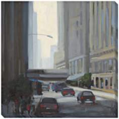 "Downtown I Limited Edition Giclee 40"" Square Wall Art"