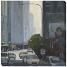 "Downtown II Limited Edition Giclee 40"" Square Wall Art"