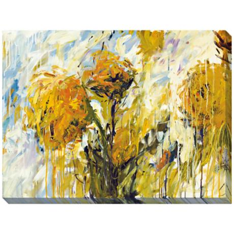 "Sunflower Stare I Limited Edition Giclee 48"" Wide Wall Art"