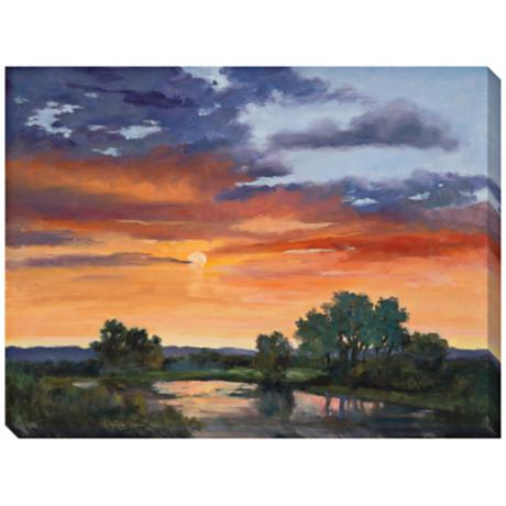 "Autumn Skies I Limited Edition Giclee 48"" Wide Wall Art"