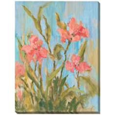 "Freesia I Limited Edition Giclee 48"" High Wall Art"