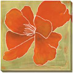 "Orange Color Study Limited Edition 40"" Square Wall Art"