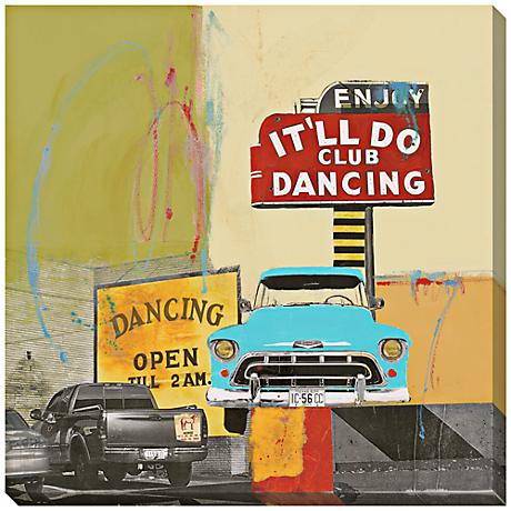 "It'll Do Dancing I Giclee 40"" Square Wall Art"