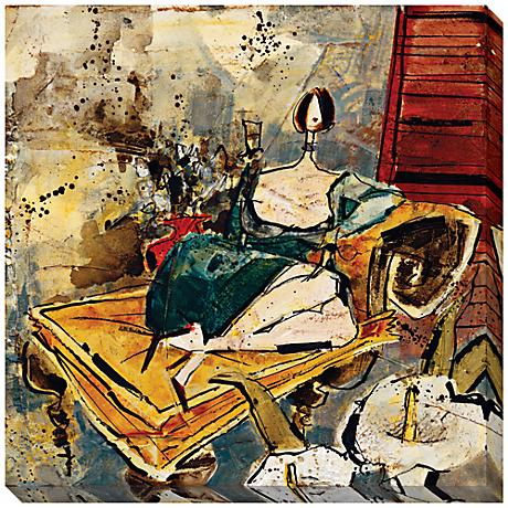 "The Golden Chaise I Limited Edition 40"" Square Wall Art"
