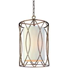 "Sausalito 22"" High 3-Light Silver Gold Pendant Light"