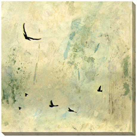 "Fly Away I Giclee Print Indoor/Outdoor 40"" Square Wall Art"