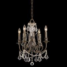 "Crystorama Regis  English Bronze 19"" High Chandelier"