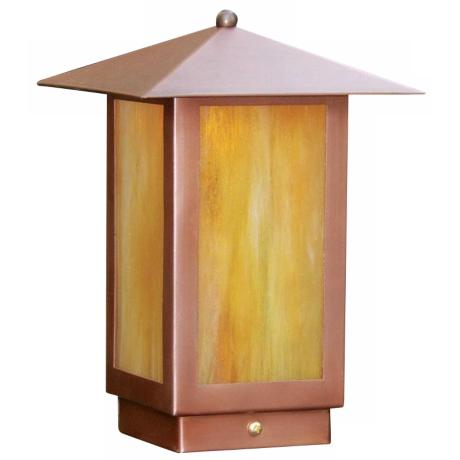 "Mission Lantern 4 5/8"" High Copper Post Cap Light"