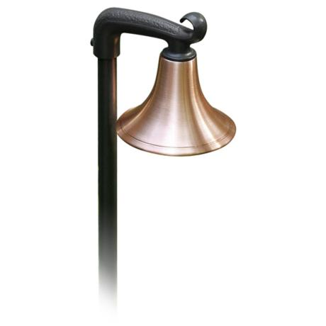 "Spun Copper Shade 21"" High Path Light"