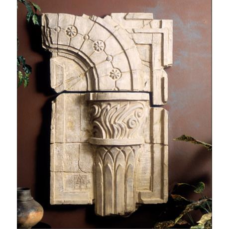 Set of 2 Corinthian Column Fragment  Wall Decor