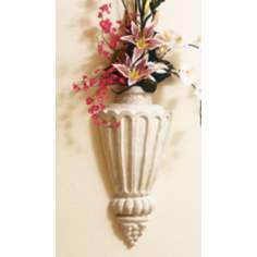 Flute Urn Faux Stone Finish Wall Art
