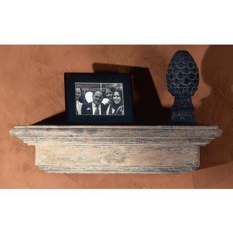 Mission Faux Stone Finish Shelf