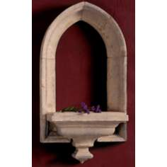 Petite Lenox Window Faux Stone Finish Shelf