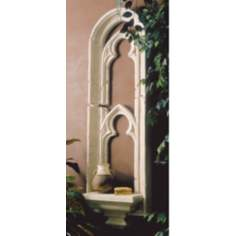 Cathedral Window Faux Stone Finish Shelf