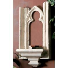 Cathedral Window Base Faux Stone Finish Shelf