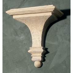 Fluted Faux Stone Finish Shelf