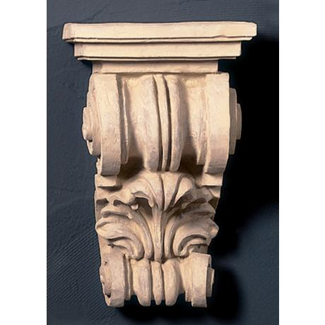 "Grecian Corbel Short Faux Stone Finish 19"" High Shelf"