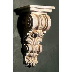 Grecian Corbel Long Faux Stone Finish Shelf