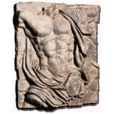 Faux Stone Finish Male Torso Wall Art