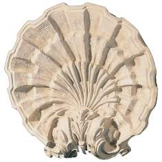 Classic Shell Faux Stone Finish Wall Art