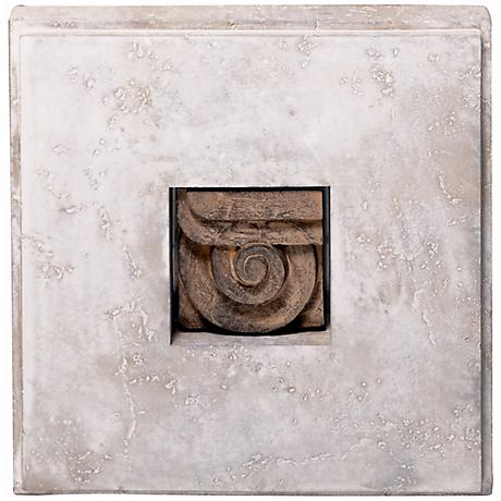 Shadow Box I Faux Stone Finish Wall Art